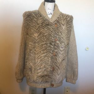 Vintage Country Pacer Faux Fur Coat Size 14